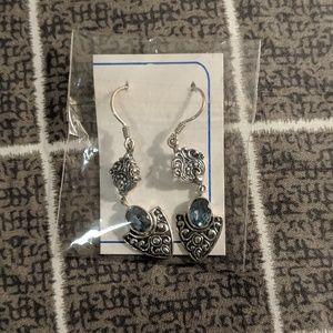 New Indian Silver Dangling Earrings
